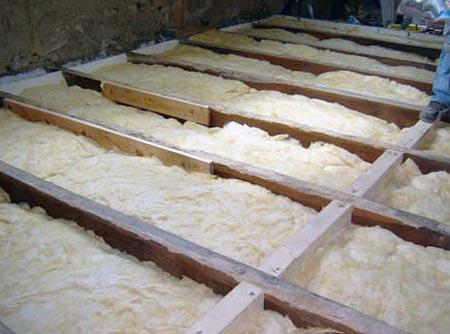 Как выглядит деревянный пол на лагах