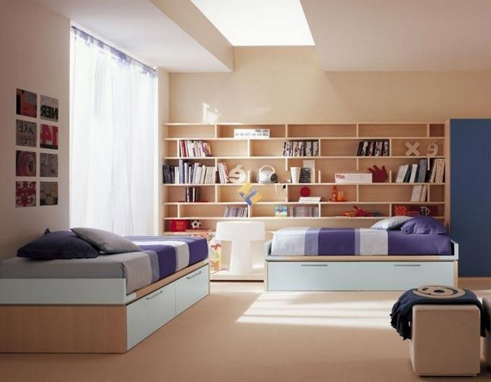 Дизайн просторной комнаты для детей