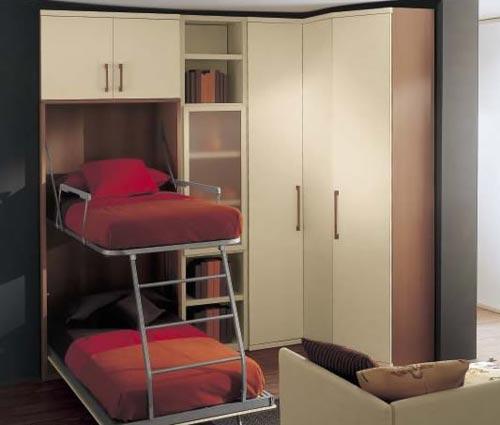 Дизайн двухъярусной кровати трансформер