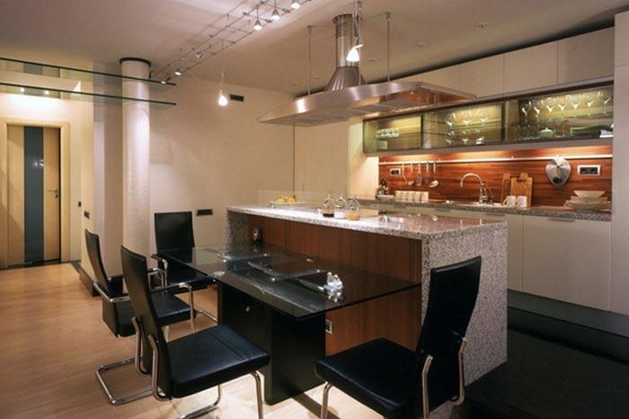 Плюсы кухни студии в квартире