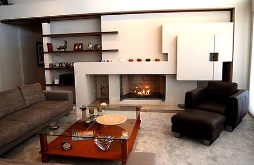 Интерьер гостиной с функциональной мебелью