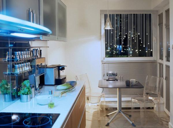 Дизайн маленькой кухни с стиле Модерн