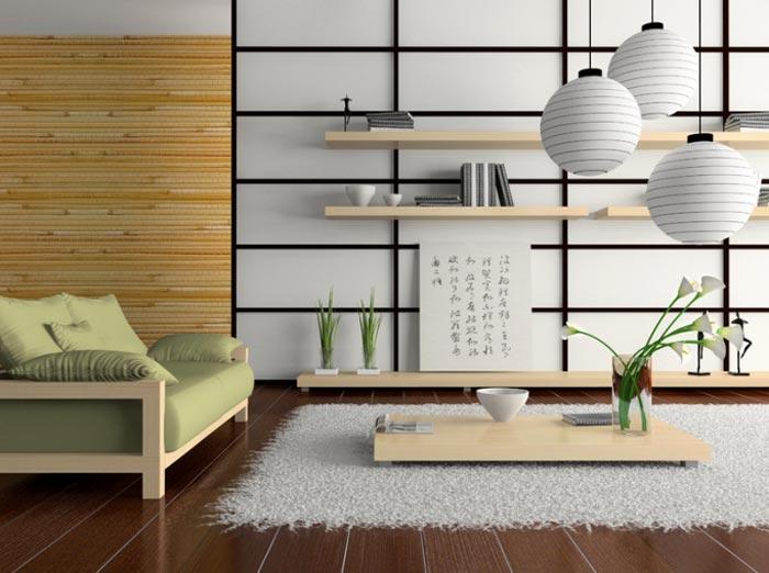 Японский стиль в дизайне комнаты