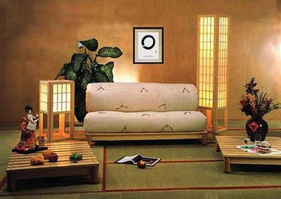 Оформление гостиной комнаты в японском стиле
