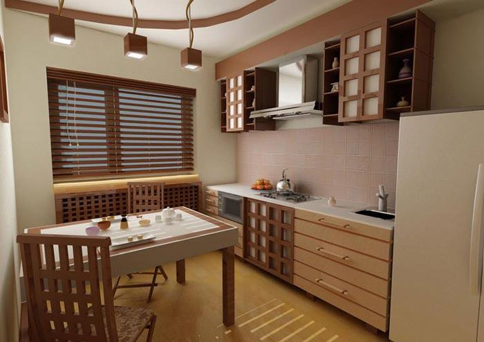 Особенности дизайна кухни с балконом