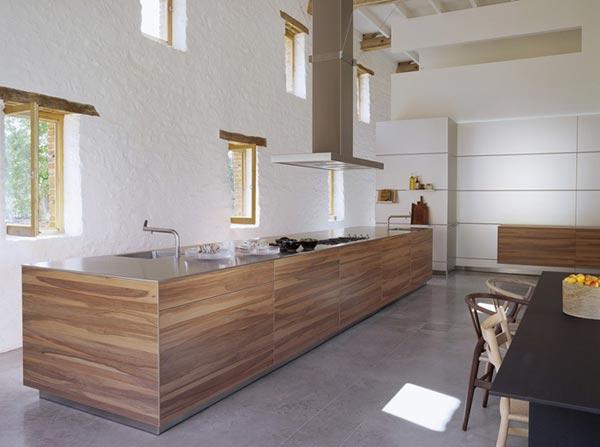 Каким может быть дизайн кухни студии в частном доме