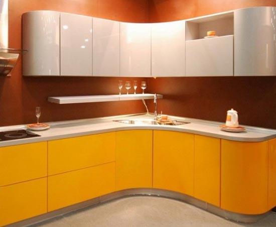 Оформление кухни в общем стиле всего помещения