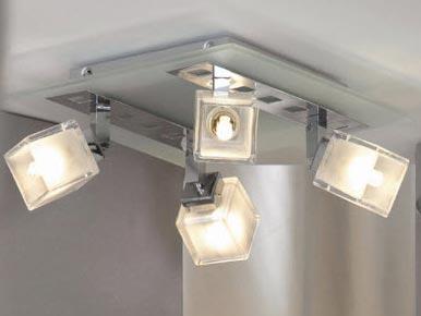 Дизайн с применением прямоугольных светильников