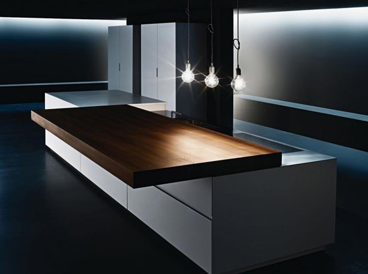 Дизайн выезжающего кухонного стола на кухне