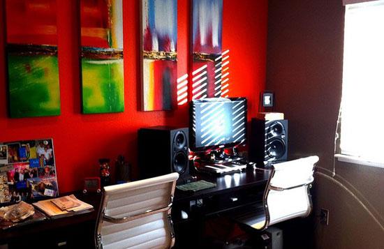 Дизайн кабинета в комнате в готическом стиле