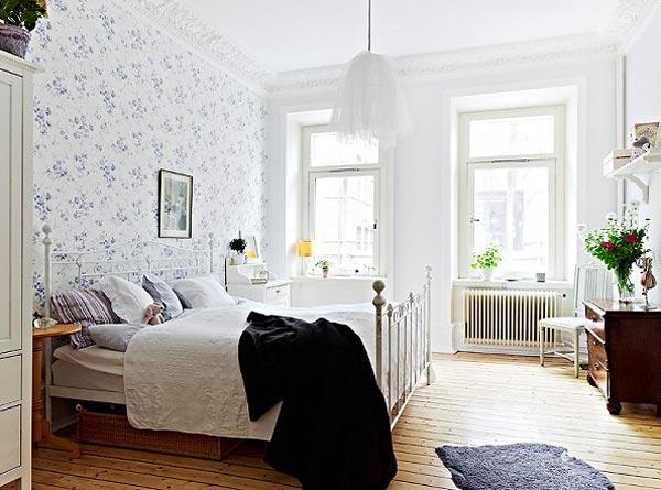 Обои в дизайне спальни в квартире