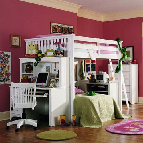 Дизайн двухъярусной кровати в однокомнатной квартире