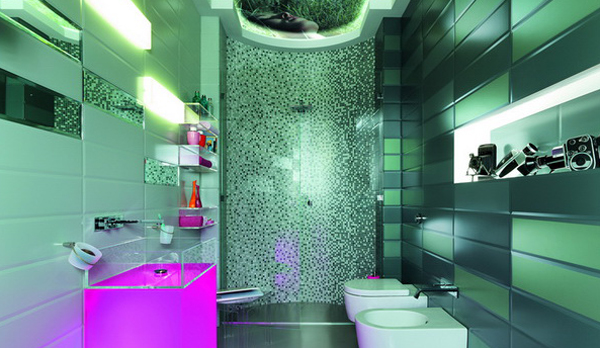 Дизайн плитки в ванной комнате своими руками
