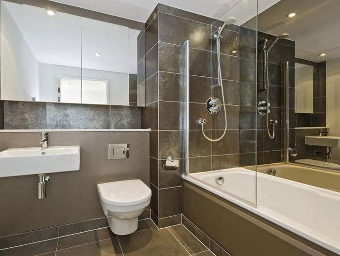 Плитка больших размеров в ванной комнате