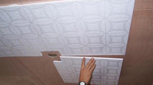 Применение плитки в дизайне потолка