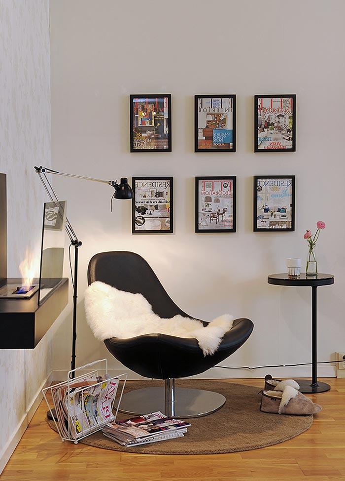 Читальный уголок в интерьере квартиры в греческом стиле