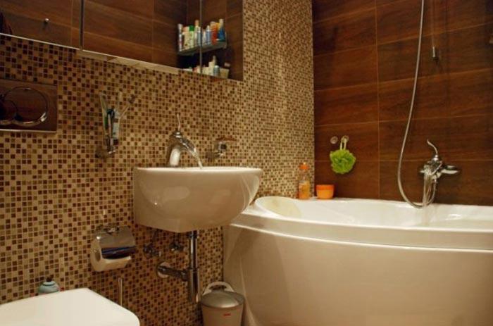 Дизайн ванной в проекте квартиры студии