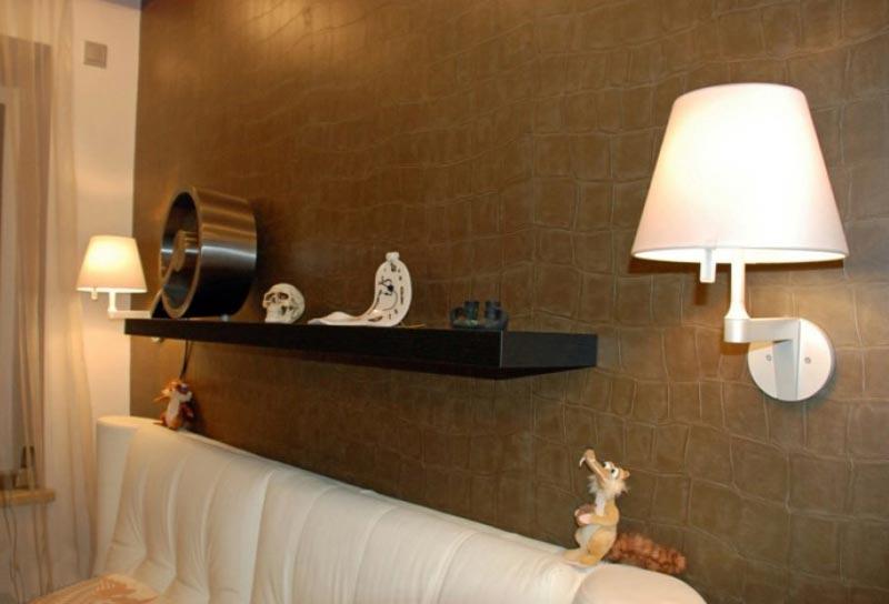 Светильники в интерьере проекта студии