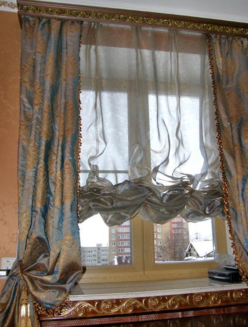 Как выглядят австрийские шторы