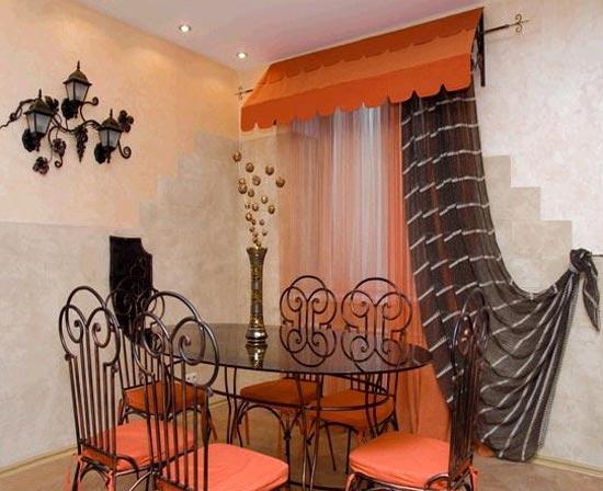 Дизайн штор в Питерском стиле