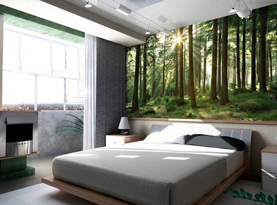 Дизайн спальни с потрясающим видом