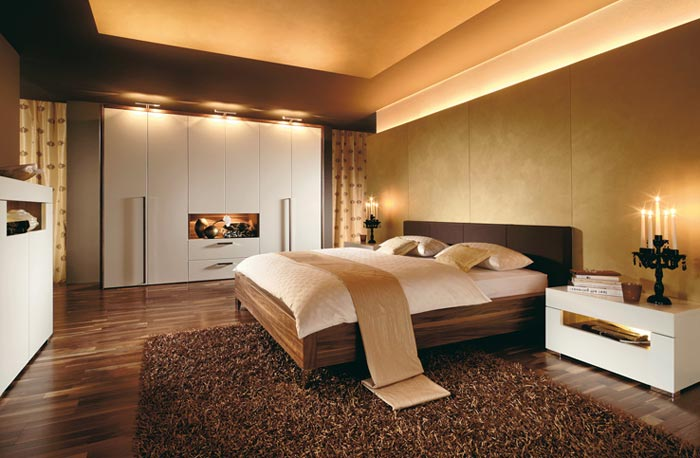 Оформление спальни в сочетании нескольких стилей