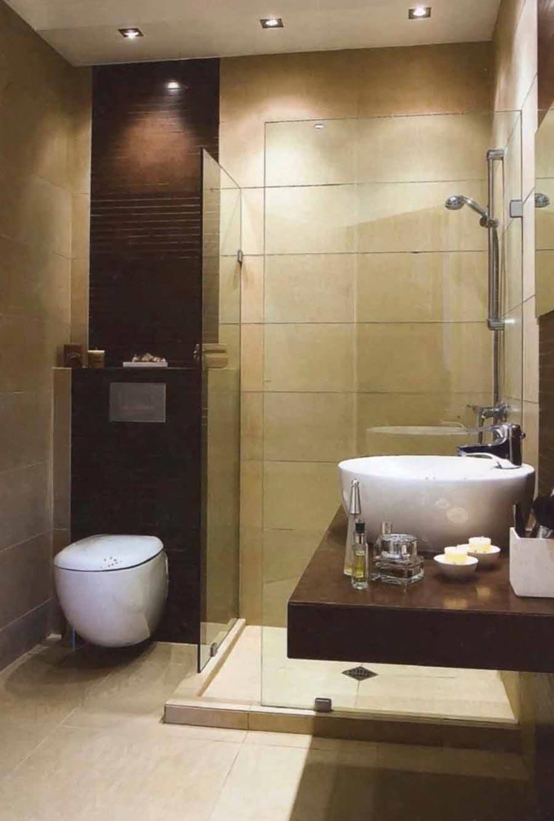 Дизайн ванной с подвесной раковиной