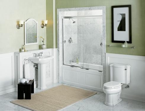 Световое оформление большой ванной комнаты