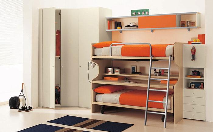 Дизайн одной комнаты для разнополых подростков