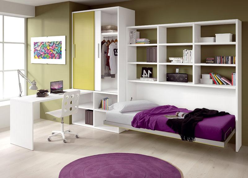 Дизайн интерьера комнаты с выкидной кроватью