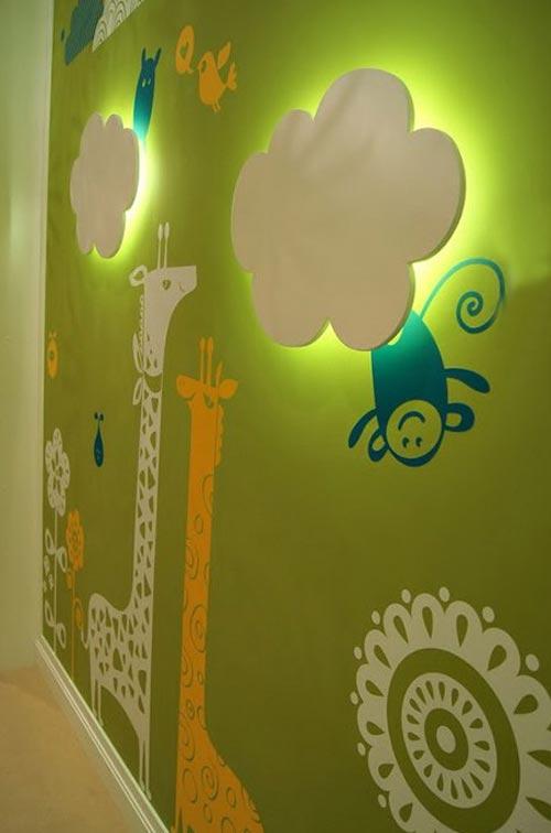 Настенные светильники в интерьере детской
