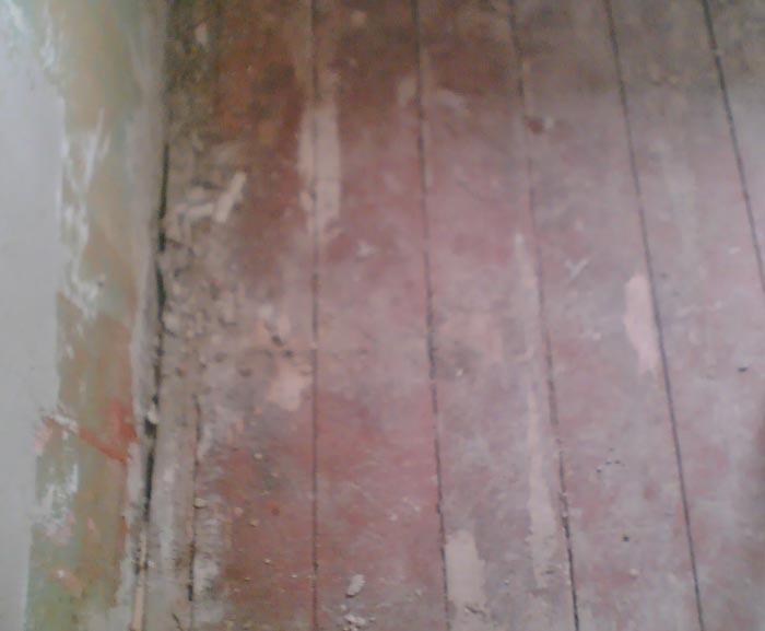 Старое покрытие деревянного пола