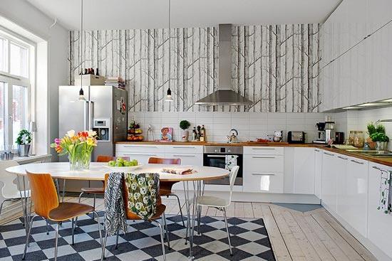Кухонные обои как они выглядят