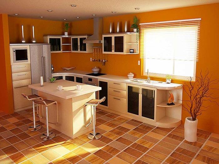 Оформляем оранжевую кухню самостоятельно