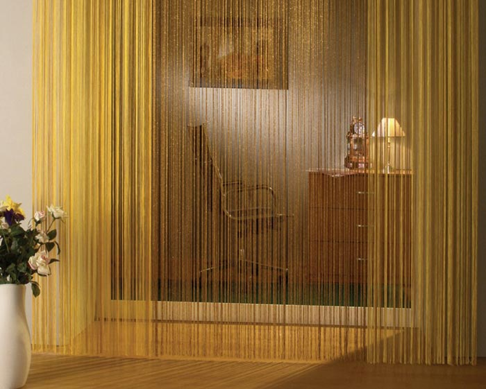 Веревочные шторы в дизайне квартиры