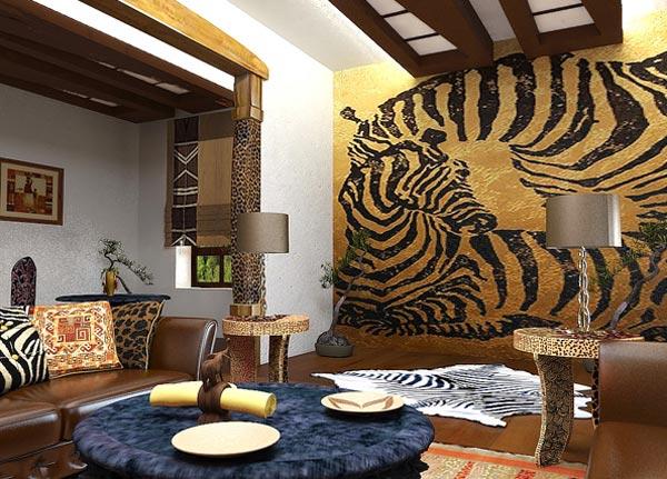Дизайн интерьера в стиле Африки
