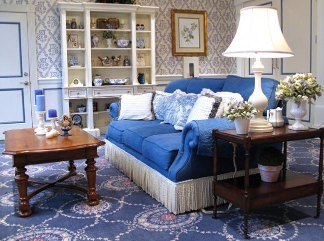 Стиль кантри в дизайн интерьере гостиной комнаты в квартире