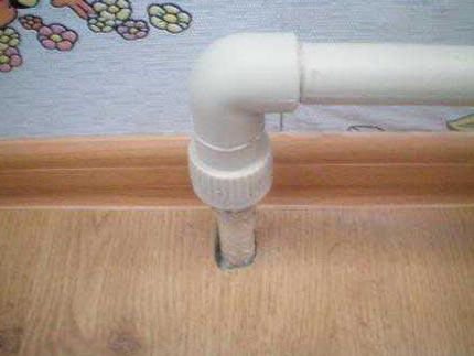Как вырезать правильно дырку в ламинате под трубу