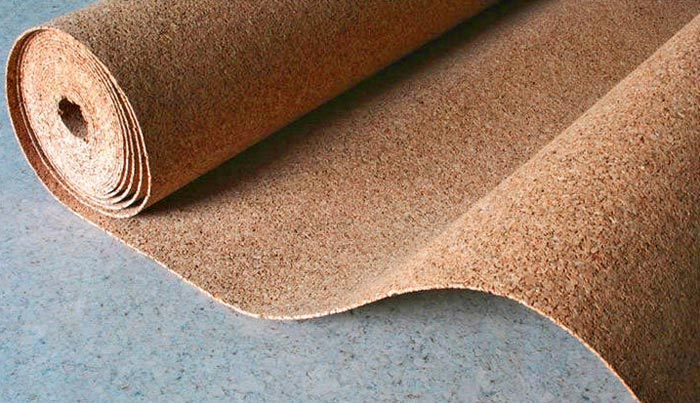Как постельть пробковое покрытие на бетонный пол
