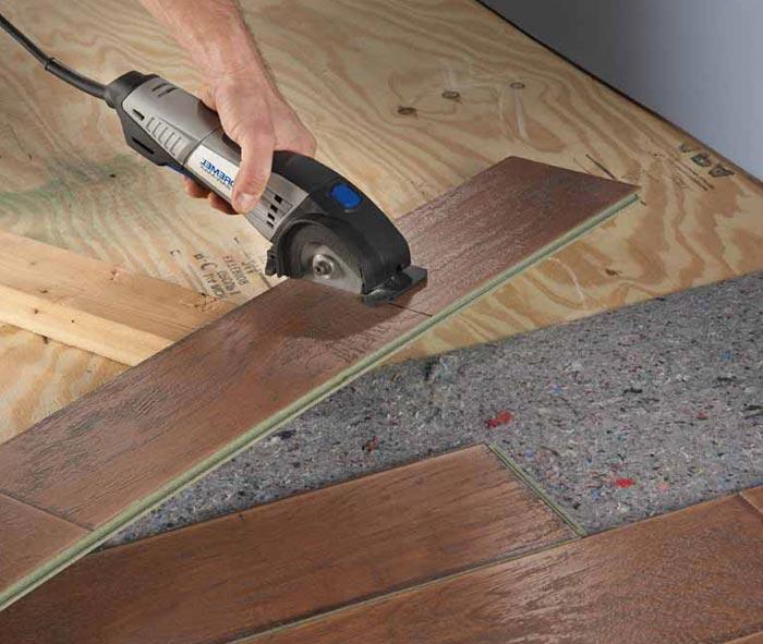 Как правильно подрезать панель ламината для нужного размера