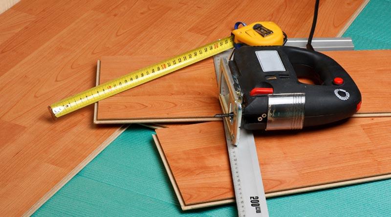 Инструменты для укладки ламината на пол