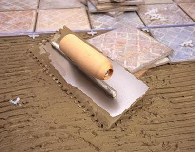 Инструменты и материалы для работы по укладке плитки