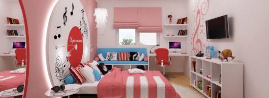 Дизайн-проект комнаты для девушки