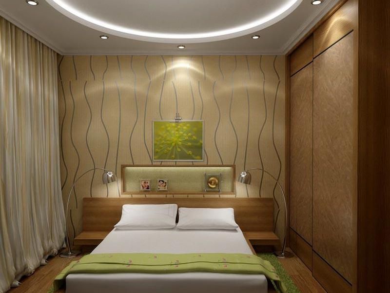 Дизайн спальни 10 квм с одним окном