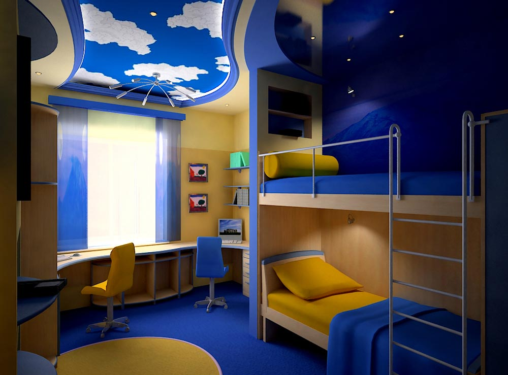 Интерьер комната для двоих мальчиков