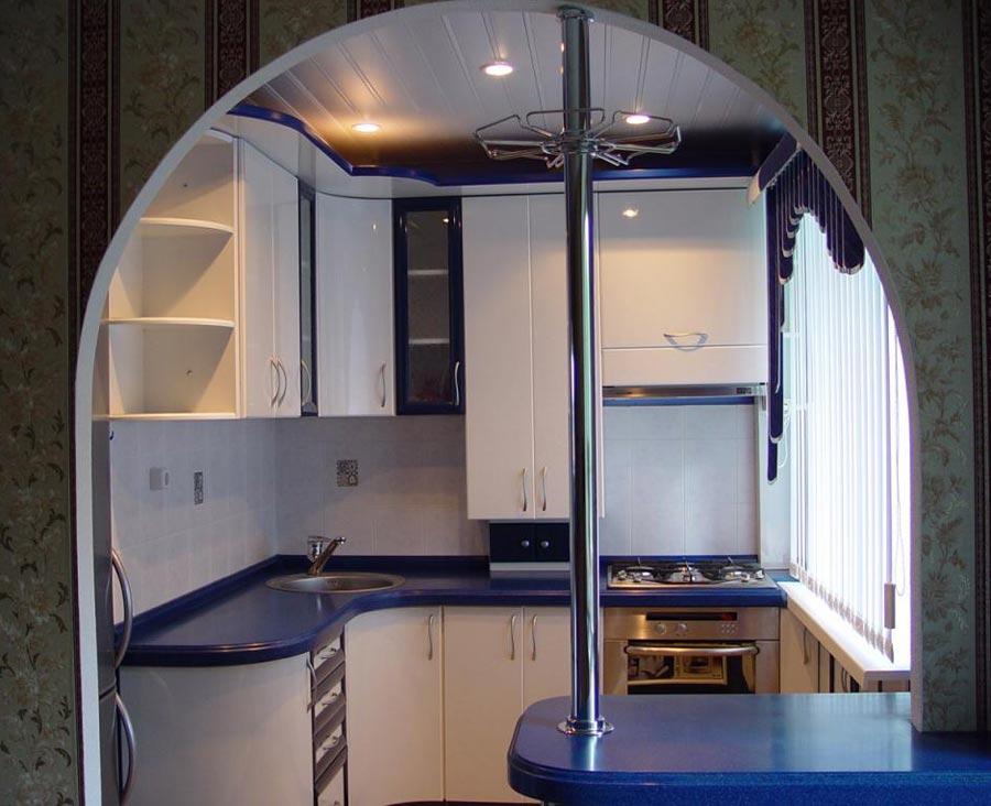 Дизайн арки для кухни фото
