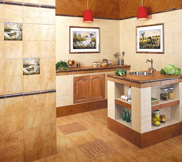 Кафель в кухне дизайн бюджетный вариант