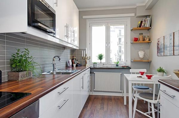 Маленькие узкие кухни дизайн фото