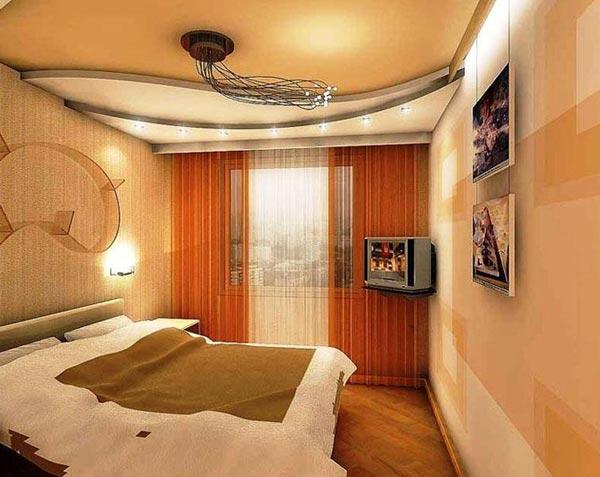 Дизайн потолков в спальне 9 кв м