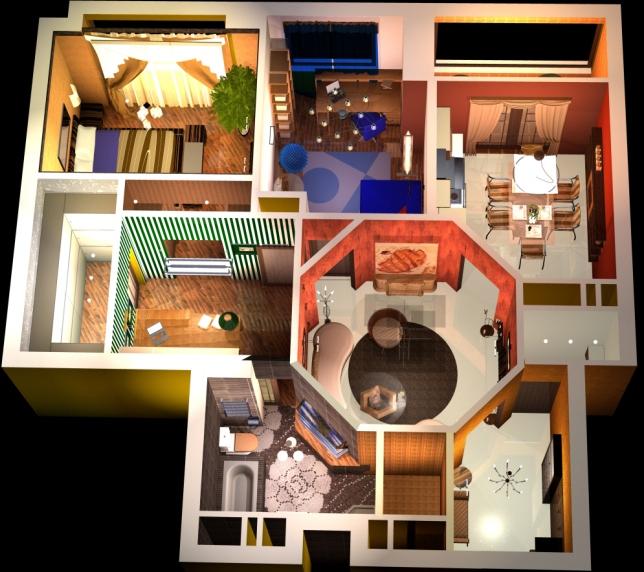 план квартиры, фен-шуй в квартире, сектора по багуа, планировка квартиры